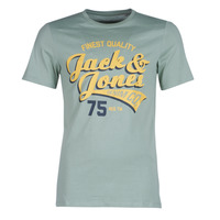 Clothing Men short-sleeved t-shirts Jack & Jones JJELOGO Green