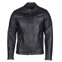 Clothing Men Leather jackets / Imitation leather Jack & Jones JCOROCKY Black