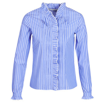 Clothing Women Shirts Maison Scotch LONG SLEEVES SHIRT Blue / Clear