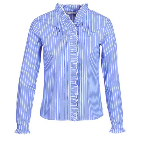 Clothing Women Shirts Maison Scotch LONG SLEEVES SHIRT Blue / Clear