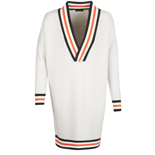 Clothing Women jumpers Maison Scotch WHITE LONG SLEEVES White / Cream