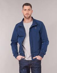 Clothing Men Jackets Scotch & Soda AMS BLAUW SIMPLE HARRINGTON JACKET Marine