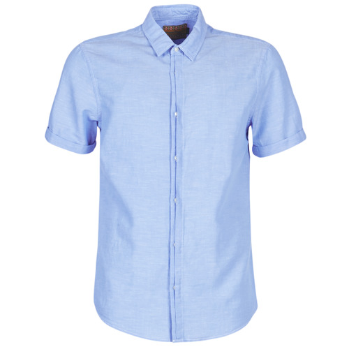 Clothing Men Short-sleeved shirts Scotch & Soda REGULAR FIT AMS BLAUW ALLOVER PRINT SHIRT IN SEASONAL PATTER Blue