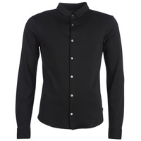 Clothing Men long-sleeved shirts Emporio Armani YOULLINE Black
