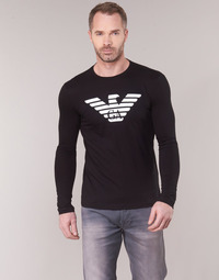 Clothing Men Long sleeved tee-shirts Emporio Armani YOULANE Black
