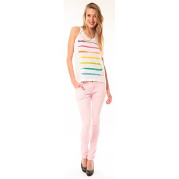 Clothing Women Tops / Sleeveless T-shirts Little Marcel Débardeur Dacola E15FTAN0118 Blanc White