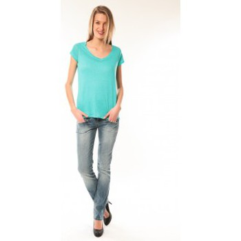 Clothing Women short-sleeved t-shirts Little Marcel T-Shirt Talin E15FTSS0116 Bleu Turquoise Blue