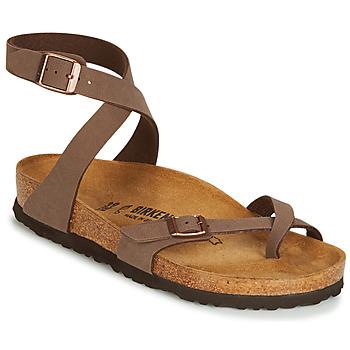 Shoes Women Sandals Birkenstock YARA Brown