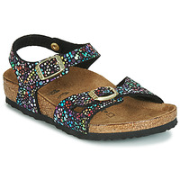 Shoes Girl Sandals Birkenstock RIO  black / Multicoloured