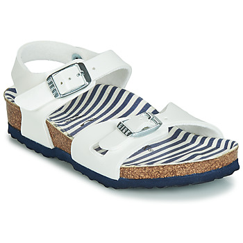 Shoes Girl Sandals Birkenstock RIO White / Patent