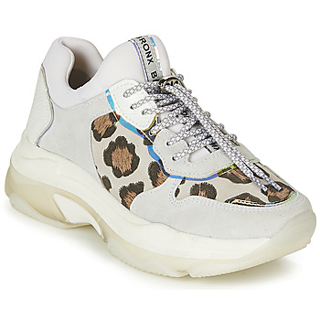 Shoes Women Low top trainers Bronx BAISLEY White / Leopard
