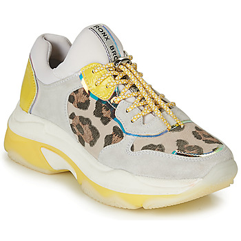 Shoes Women Low top trainers Bronx BAISLEY White / Yellow / Leopard