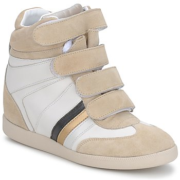 Shoes Women Hi top trainers Serafini TUILLERIE White / Beige / Blue
