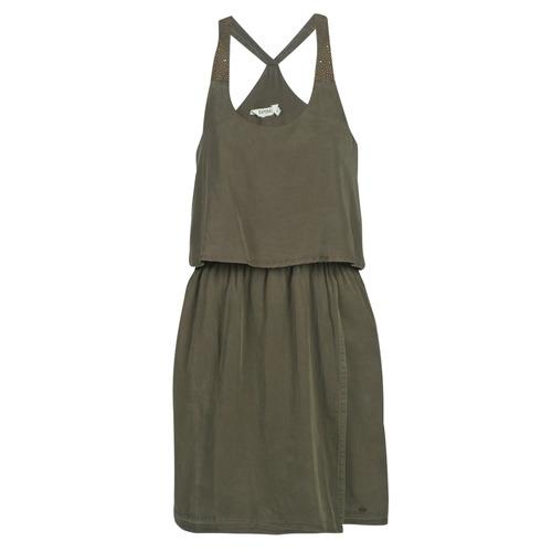 Clothing Women Short Dresses Kaporal FIXE Kaki