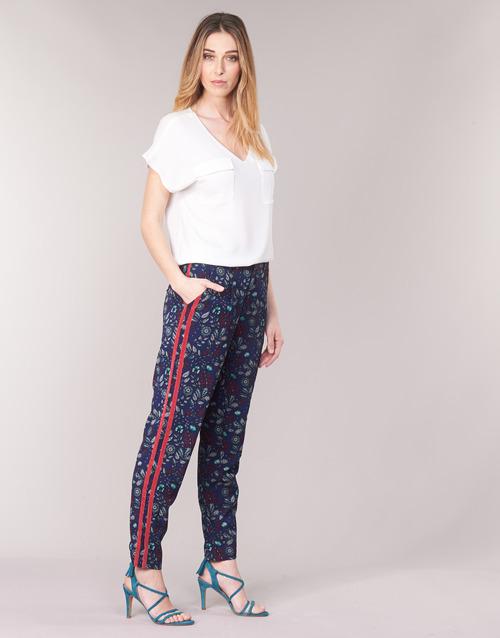 Clothing Women Wide leg / Harem trousers Kaporal BABY Marine / Multicoloured