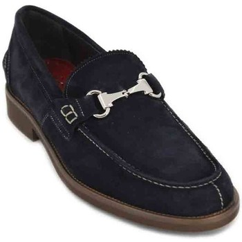 Shoes Men Loafers Luis Gonzalo 7599H Men's Shoes blue