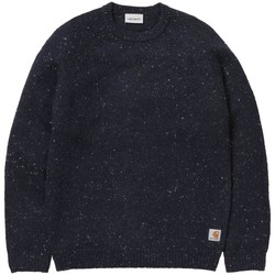 Clothing Men jumpers Carhartt WIP Anglistic Sweater Navy