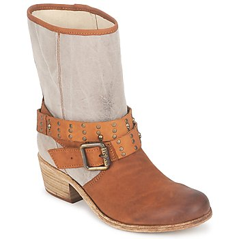 Shoes Women High boots Ikks INES Brown / TAUPE