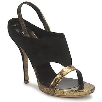 Shoes Women Sandals Gaspard Yurkievich T4 VAR7 Black / Gold