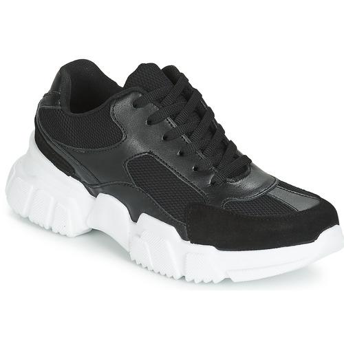 Shoes Women Low top trainers Yurban JILIBELLE Black / White