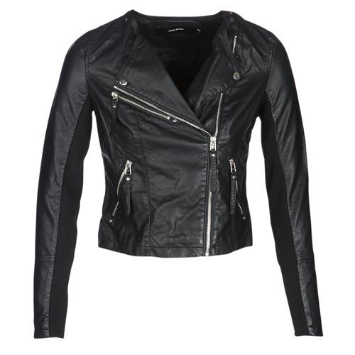 Clothing Women Leather jackets / Imitation leather Vero Moda VMRIA FAV Black