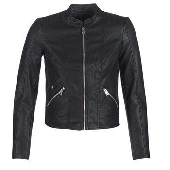 Clothing Women Leather jackets / Imitation leather Vero Moda VMKHLOE Black