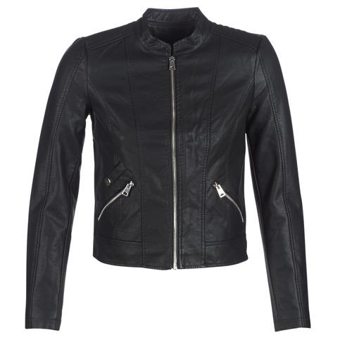 Clothing Women Leather jackets / Imitation leather Vero Moda VMKHLOE Black