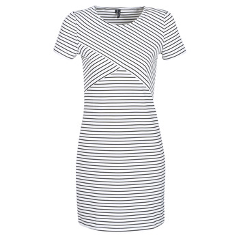 Clothing Women Short Dresses Vero Moda VMVIGGA White / Black