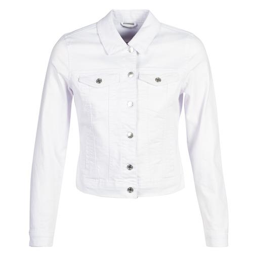 Clothing Women Denim jackets Vero Moda VMHOT SOYA White