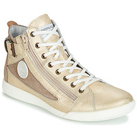 Shoes Women Hi top trainers Pataugas PALME Gold