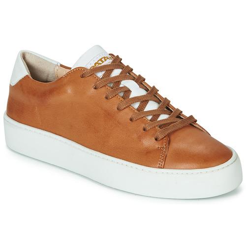 Shoes Women Low top trainers Pataugas KELLA Cognac