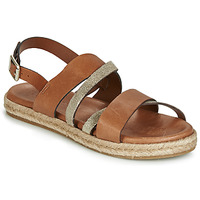 Shoes Women Sandals Pataugas LOU Cognac / Gold