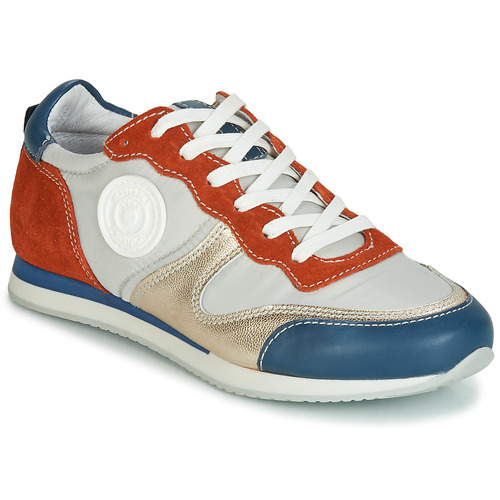 Shoes Women Low top trainers Pataugas IDOL/MIX Orange / Beige / Blue