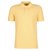 Clothing Men short-sleeved polo shirts Benetton MADALO Yellow