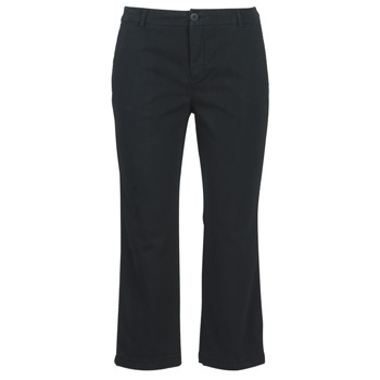 Clothing Women Cropped trousers Benetton ORELY Black