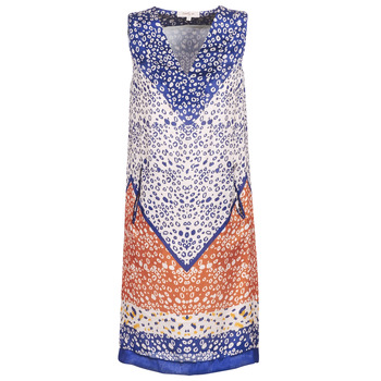 Clothing Women Short Dresses Derhy FORTERESSE White / Blue / Orange