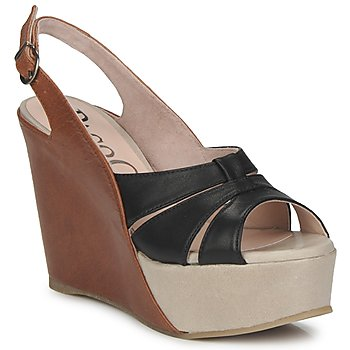 Shoes Women Sandals Paco Gil RITMO SELV CAMEL / Black