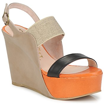 Shoes Women Sandals Paco Gil RITMO OULA TAUPE / Black