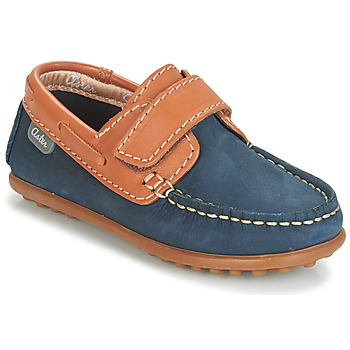 Shoes Boy Loafers Aster MICADO Marine / Cognac