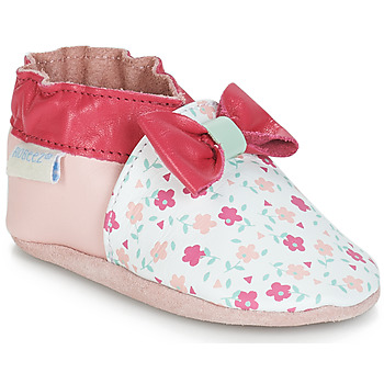 Shoes Girl Baby slippers Robeez FLOWERY White / Pink