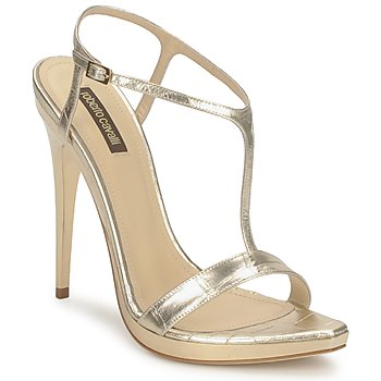 Shoes Women Sandals Roberto Cavalli RDS736 Gold