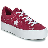 Shoes Women Low top trainers Converse ONE STAR PLATFORM SUEDE OX Fuschia / White
