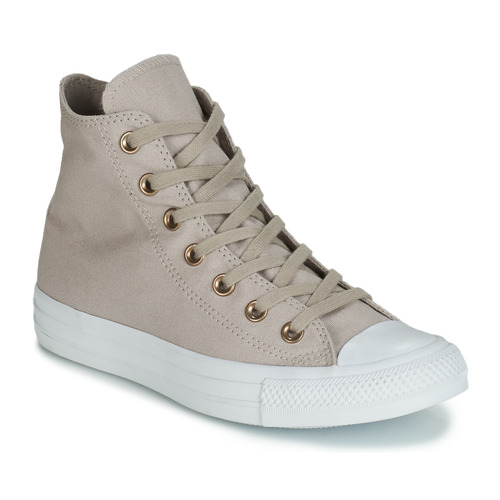 9abf00fc7795b Shoes Women Hi top trainers Converse CHUCK TAYLOR ALL STAR HEARTS CANVAS HI  Grey