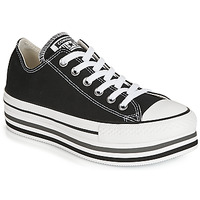 Shoes Women Low top trainers Converse CHUCK TAYLOR ALL STAR PLATFORM EVA LAYER CANVAS OX Black