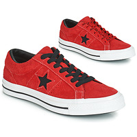 Shoes Men Low top trainers Converse ONE STAR DARK STAR VINTAGE SUEDE OX Red