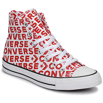 Shoes Hi top trainers Converse CHUCK TAYLOR ALL STAR WORDMARK HI Red