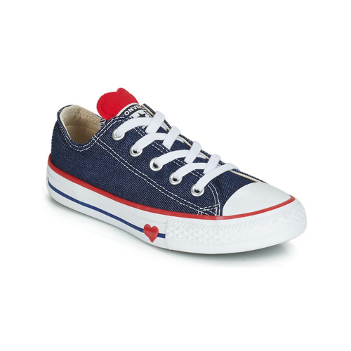 Shoes Girl Low top trainers Converse CHUCK TAYLOR ALL STAR SUCKER FOR LOVE DENIM OX Blue