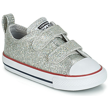 Shoes Girl Low top trainers Converse CHUCK TAYLOR ALL STAR 2V SPARKLE SYNTHETIC OX Grey