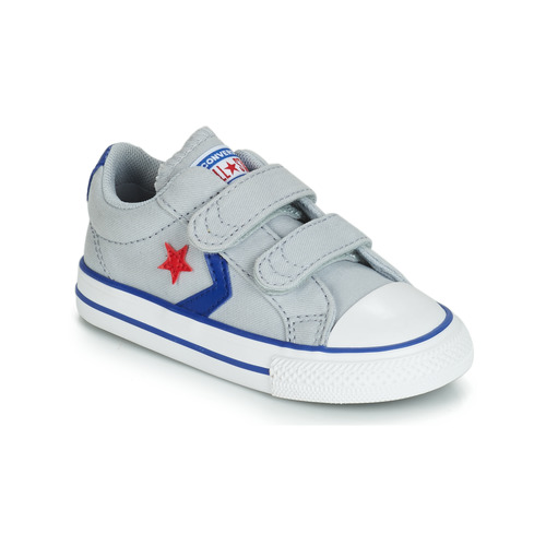 Shoes Children Low top trainers Converse STAR PLAYER 2V CANVAS OX Grey