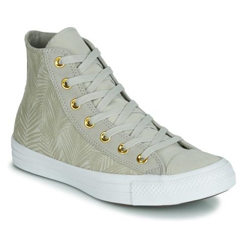 Shoes Women Hi top trainers Converse CHUCK TAYLOR ALL STAR SUMMER PALMS HI Green